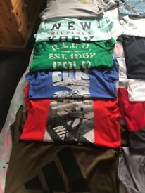 Selection of boys tee shirts