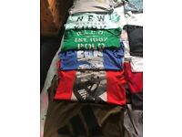 Selection of boys tee shirts