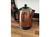 Copper effect kettle microwave toaster and tea caddys