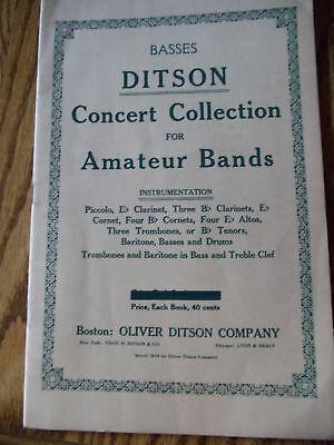 BASSES DITSON CONCERT COLLECTIONS FOR AMATEUR BANDS