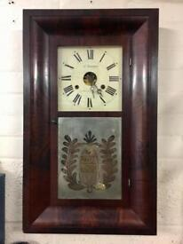 Antique Vintage c1890 American Wall Clock by Jerome New Haven Connecticut