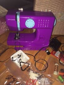 Purple John Lewis sewing machine