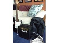 Yamaha electric guitar + amp