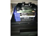 PLAYSTATION 4 SLIM AND 6 GAMES