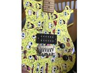 Spongebob electric guitar with amplifier and accessories. In excellent condition.