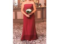 Ebony Rose prom/maid of honor dress. Size 14. Cranberry Red. Worn Once