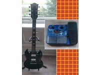 Westfield SG guitar + Behringer V-amp pedal