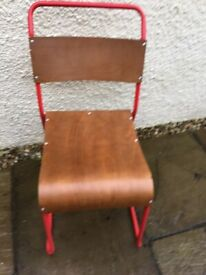 18 New Red Chelsea Stacking Chairs £25 each