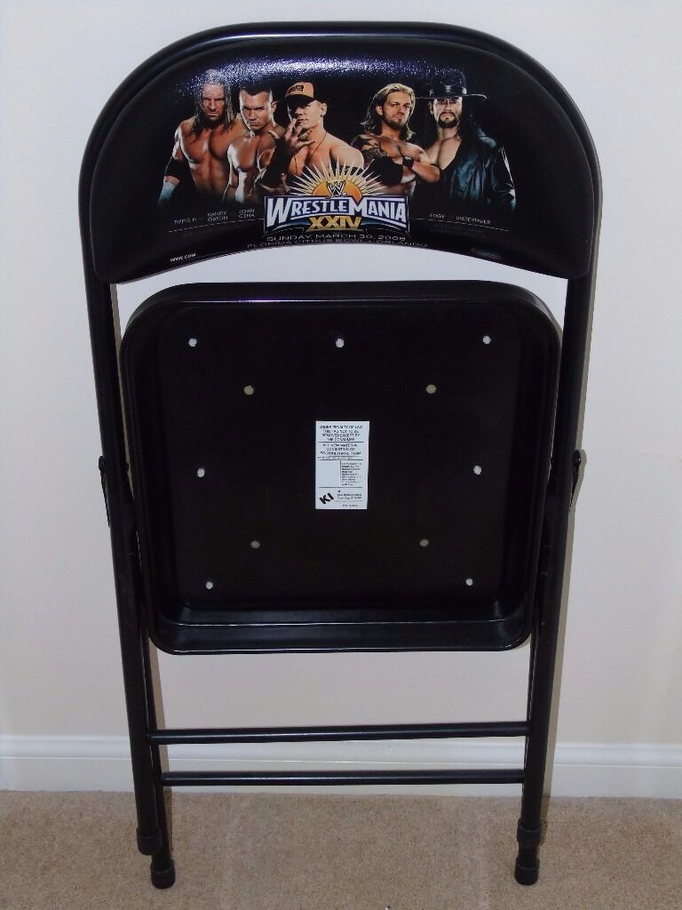 WWE WRESTLEMANIA 24 XXIV STEEL CHAIR FROM WRESTLING EVENT ITSELF – Wwf Chair