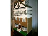 Dolls house with furniture big £30