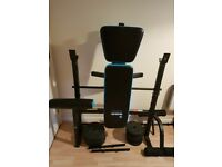 Men's Health Folding Workout Bench with 35kg Weights