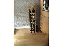 Light oak wine rack
