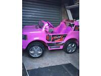 24 v two seater pink Range Rover
