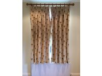 One Pair Lined Curtains
