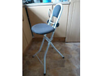 MOBILITY DISABILITY AID FOLDING PERCHING STOOL