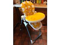 Cosatto yellow chicken unisex baby highchair