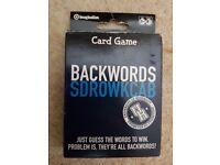 Backwords card game