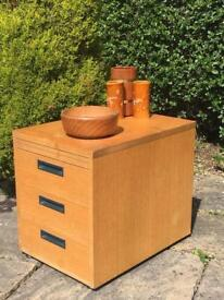 INDUSTRIAL chest of drawers VINTAGE retro SOLID WOOD