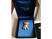 Robertsons Farewell Silver Plated Golly Badge rare Limited Edition