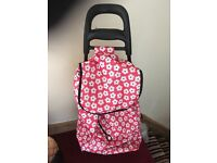 Retro floral shopping trolley