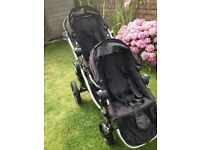 Baby jogger city select, with both seats, car seat adaptors and foot muffs