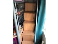 High sleeper with fouton , desk chair, storage steps , fouton mattress & chair