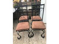 4 x metal chairs