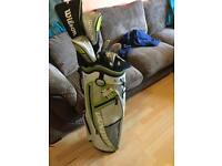 Ladies Wilson full set graphite golf clubs