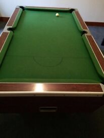 7ft slate bed pool table