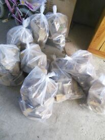 Bags of logs firewood