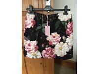 Ted baker floral jacquard skirt size 2 (10) bnwt