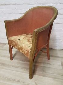 Vintage Basket Chair For Upcycling (DELIVERY AVAILABLE FOR THIS ITEM OF FURNITURE)