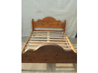 Wooden bed frame solid pine (Delivery)