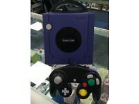 PURPLE NINTENDO GAME CUBE - BLACK AND SILVER COLORS ALSO AVAILBLE