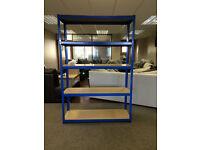 HEAVY DUTY 174kg/shelf BLUE Storage shelves 180cm x 120cm x 40cm Metal Racking Garage £55 delivery