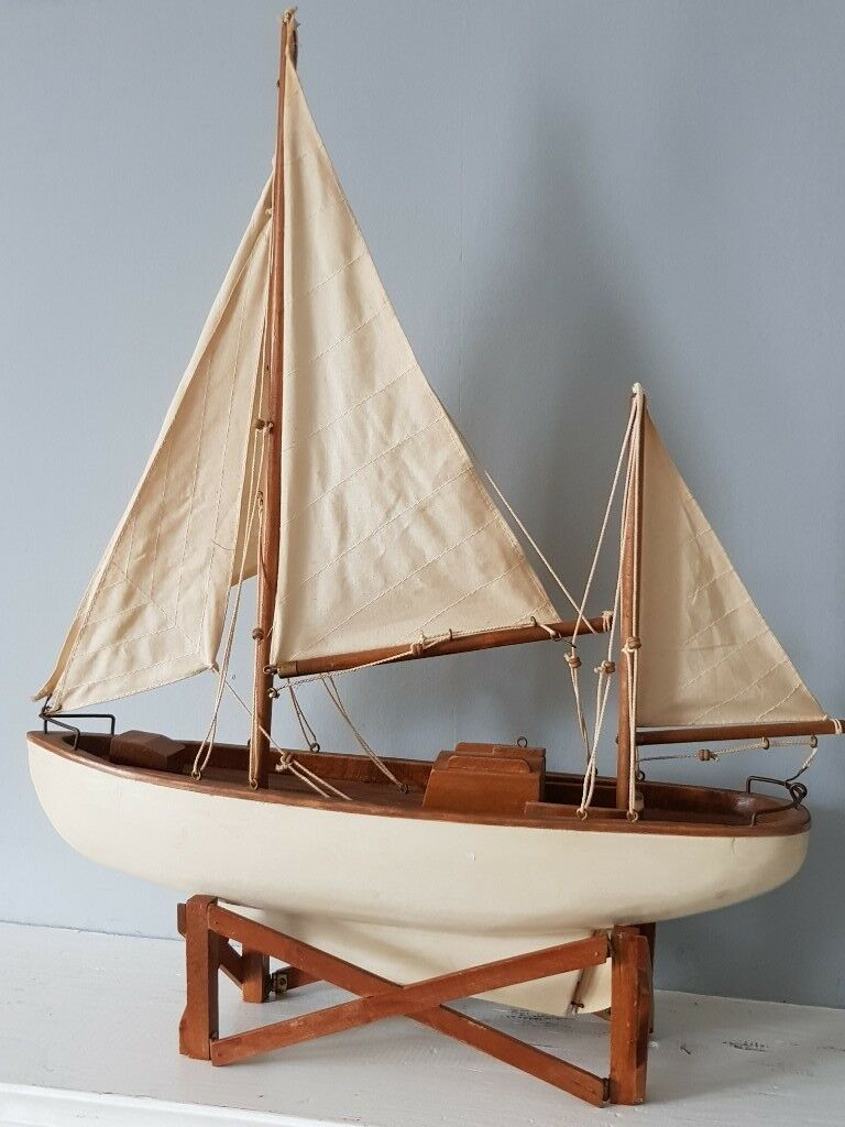 Fabulous Wooden Model Yacht Sailing Boat 55cm Tall on Stand | in  Stalybridge, Manchester | Gumtree