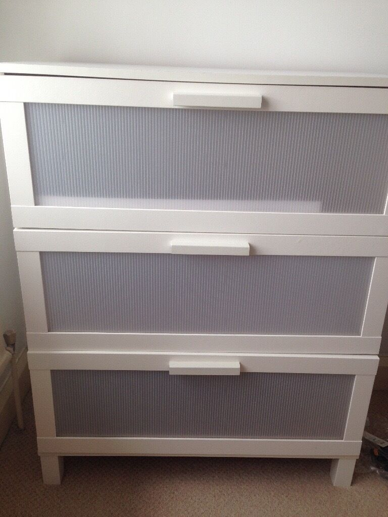Ikea Aneboda Wardrobe And Chest Of Drawers White In Wirral