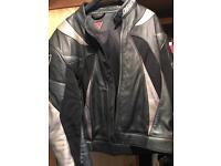 dainese two piece leather suit