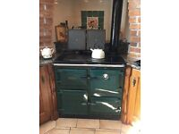 Rayburn 499K British Racing Green Oil Cooker