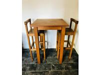 Solid Oak tall dining table