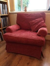 sofa, armchair and footstool for sale