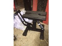 Black DRC HC2 motorcycle lift stand