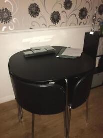 Black dinning table