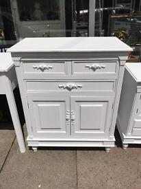 Shabby Chic White Rose Cupboard