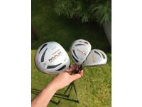 Full set of golf clubs from 3 iron to 10.5 driver