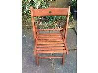 Wooden folding Ikea chair
