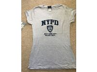 Ladies NYPD Tshirt. Medium. Brand new with tags