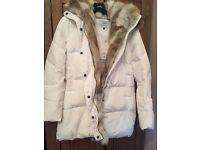 Ladies Parka style Down filled jacket White
