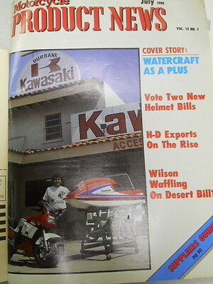 Motorcycle Product News, July 1988, Watercraft As A Plus,   Blue box 2
