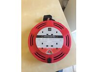 10 metre 4 plug cassette reel (cord electric extension)